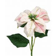 Poinsettia artificial MARRIT, blanco-rosa, 70cm, Ø20cm