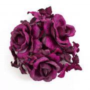 Aro para velas artificial INGA, rosa, hortensia, violeta, Ø10cm