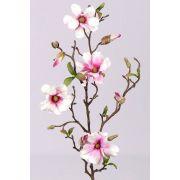Rama de magnolia sintética MARGA, rosa-fucsia, 80cm, Ø6-8cm