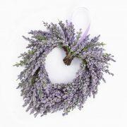 Corazón de lavanda textil SENJA, violeta, Ø20cm