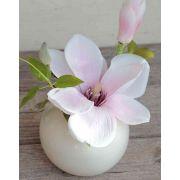 Magnolia sintética FEMI, rosa pálido, 20cm, Ø17cm