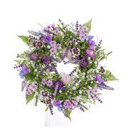 Corona veraniega falsa FEDORA, lavanda, lathyrus, lila, Ø30cm