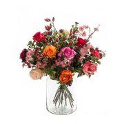 Ramo de flores artificiales FEME, naranja-rosa, 45cm, Ø40cm