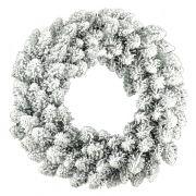 Corona de abeto artificial REYKJAVIK, nevado, blanco, Ø50cm